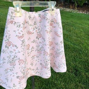 Pink floral skater skirt